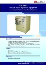 "Vacuum Vapor Deposition Equipment ""SEC-06D"""