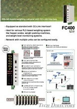 "DIN-rail mount weighing indicator with CC-Link interface ""FC400"""
