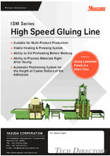 High Speed Gluing Line