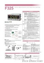 "DIGITAL INDICATOR WITH FAST PEAK HOLD FUNCTION ""F325"""